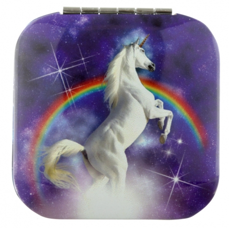Majestic Unicorn compact mirror